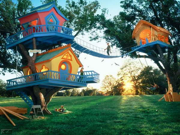 Cool-Tree-House-With-Kids-Design